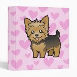 Yorkshire Terrier Love (short hair no bow) Binder