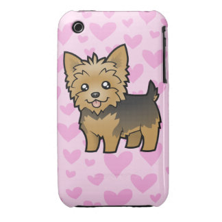 Yorkshire Terrier Love (short hair no bow) iPhone 3 Case-Mate Cases