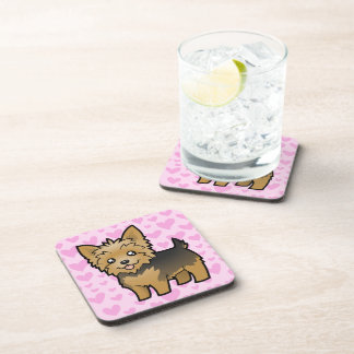 Yorkshire Terrier Love (short hair no bow) Coasters