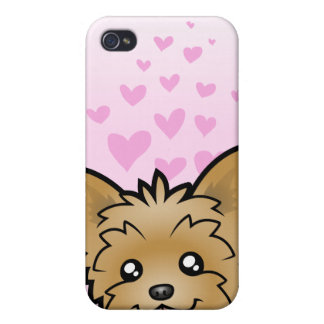 Yorkshire Terrier Love (short hair no bow) iPhone 4/4S Case