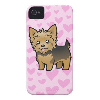 Yorkshire Terrier Love (short hair no bow) iPhone 4 Case-Mate Case