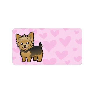 Yorkshire Terrier Love (short hair no bow) Label