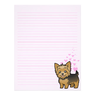 Yorkshire Terrier Love (short hair no bow) Letterhead