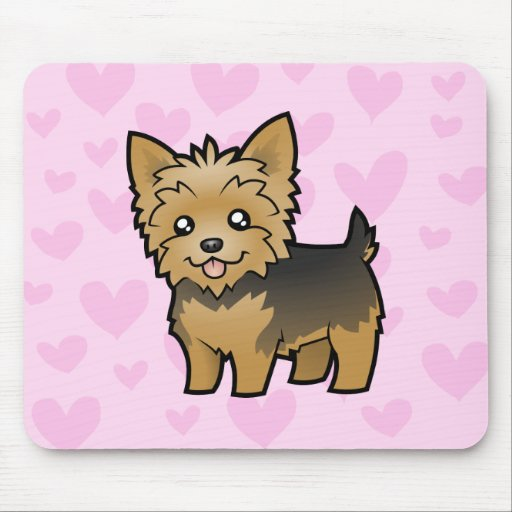 Yorkshire Terrier Love (short hair no bow) Mouse Pad