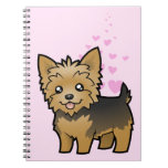 Yorkshire Terrier Love (short hair no bow) Spiral Note Book