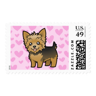 Yorkshire Terrier Love (short hair no bow) Postage Stamp