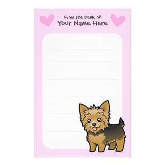 Yorkshire Terrier Love (short hair no bow) Stationery