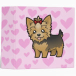 Yorkshire Terrier Love (short hair with bow) Binder