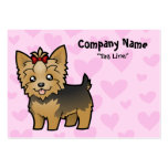 Yorkshire Terrier Love (short hair with bow) Business Card Templates