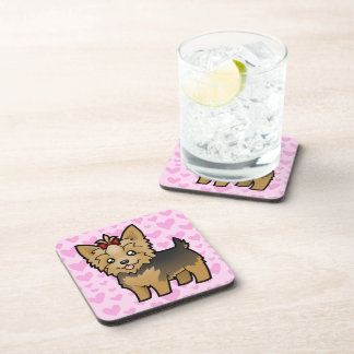 Yorkshire Terrier Love (short hair with bow) Coasters