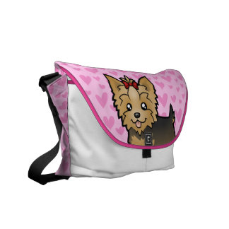 Yorkshire Terrier Love (short hair with bow) Courier Bag