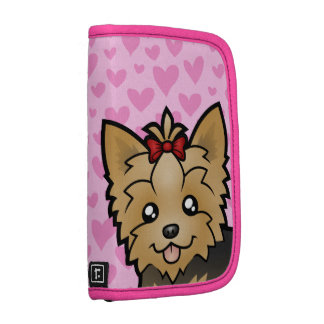 Yorkshire Terrier Love (short hair with bow) Folio Planner