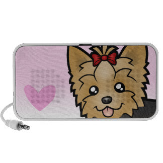 Yorkshire Terrier Love (short hair with bow) Travelling Speakers