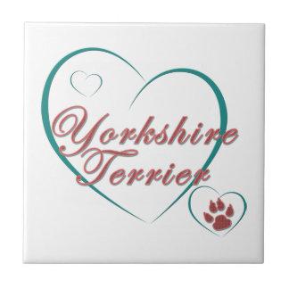 Yorkshire Terrier Love Tile