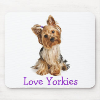 Yorkshire Terrier Love Yorkies Puppy Dog Mousepad
