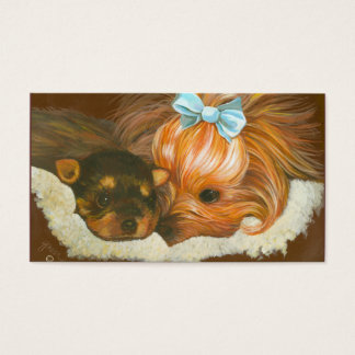 Yorkshire Terrier Mama & Puppy Business Card