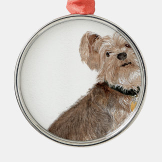 Yorkshire Terrier Metal Ornament