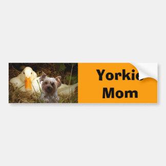 Yorkshire Terrier Mom Bumper Sticker Car Bumper Sticker