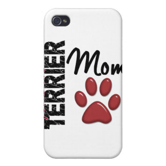 Yorkshire Terrier Mom Paw Print 2 iPhone 4 Covers