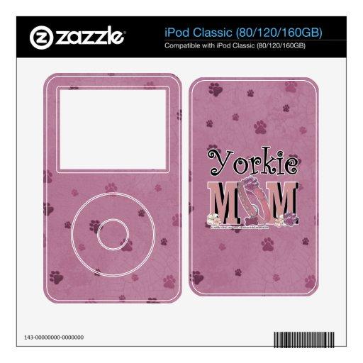 Yorkshire Terrier MOM Skins For iPod