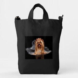Yorkshire Terrier on black Duck Bag