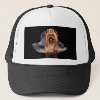 Yorkshire Terrier on black Trucker Hat