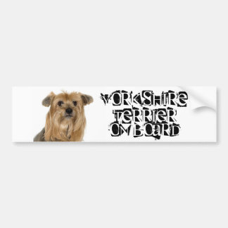 Yorkshire Terrier on Board Bumper Sticker