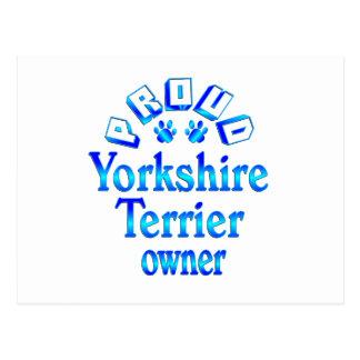 Yorkshire Terrier Owner Postcard