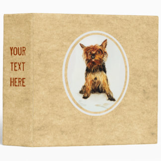Yorkshire Terrier Painting 3 Ring Binder