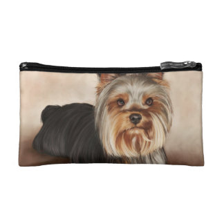 Yorkshire Terrier Painting Cosmetics Bags