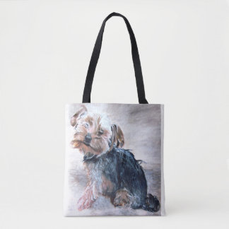 Yorkshire Terrier, Painting by Kate Marr Bag