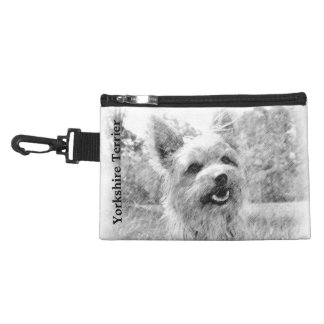 Yorkshire Terrier Pencil Drawing Accessories Bags