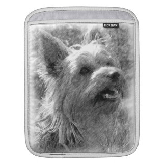 Yorkshire Terrier Pencil Drawing ipad Sleeve