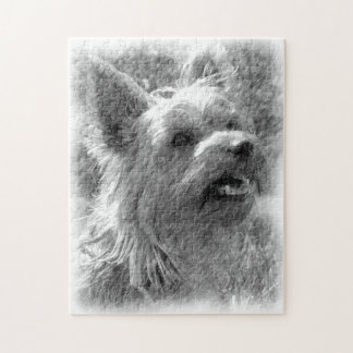 Yorkshire Terrier Pencil Drawing Jigsaw Puzzle