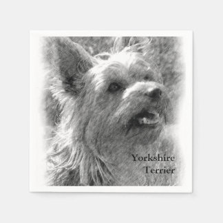 Yorkshire Terrier Pencil Drawing Napkin