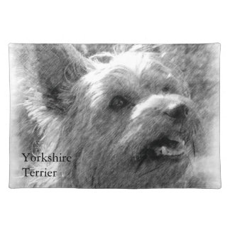 Yorkshire Terrier Pencil Drawing Placemat