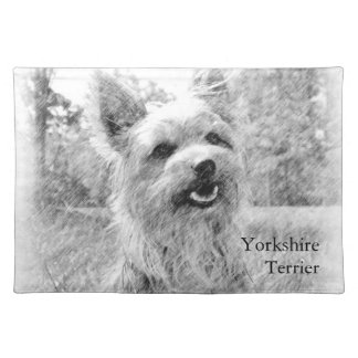 Yorkshire Terrier Pencil Drawing Place Mat