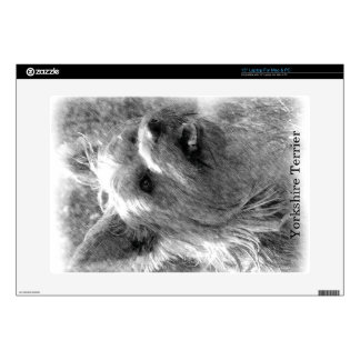 Yorkshire Terrier Pencil Drawing Skins For Laptops
