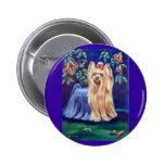 Yorkshire Terrier Pin Redondo De 2 Pulgadas