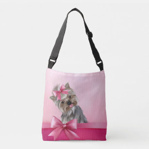 Yorkie in a Crown Therapist Bag