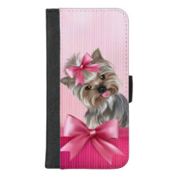 iPhone 8/7 Plus Wallet Case with Yorkshire Terrier Phone Cases design