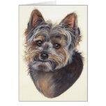 Yorkshire Terrier pintado en Watercolour Tarjeta