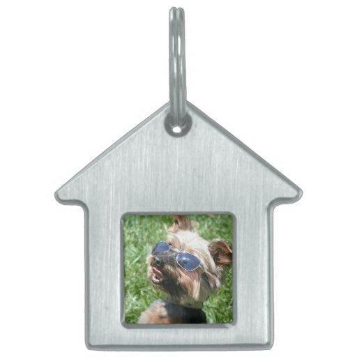 Yorkshire Terrier Placa De Nombre De Mascota