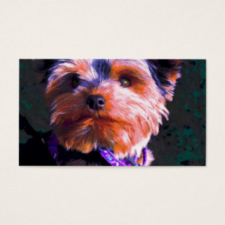 Yorkshire Terrier Pop Art Business Card