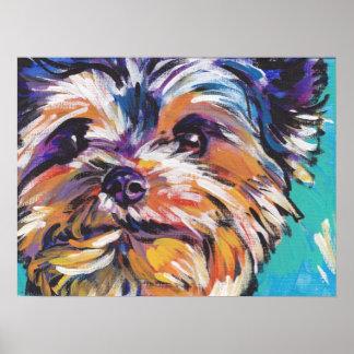 Yorkshire Terrier Pop Art Poster Print