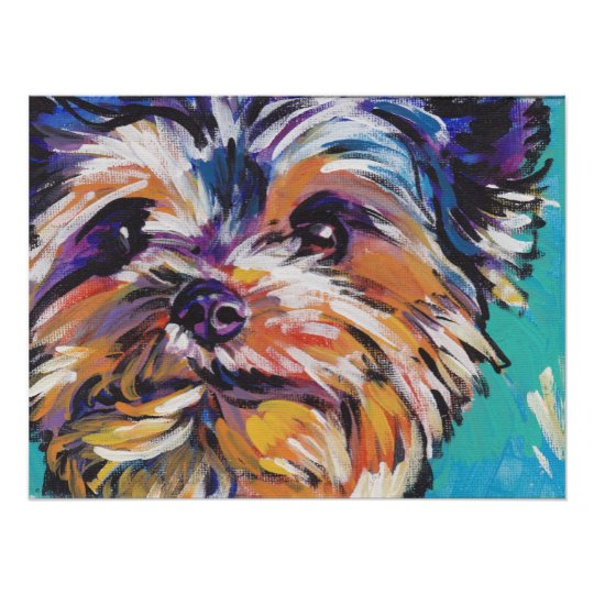 65df9bb80ad Colorful Pet Portrait Cairn Terrier Dog Art Print 8x10 by Alicia VanNoy Call.   14.00