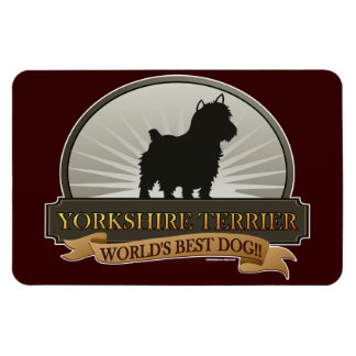 Yorkshire Terrier Rectangle Magnets