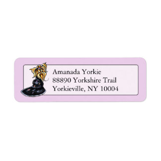 Yorkshire Terrier Pretty Performer Personalized Label