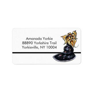 Yorkshire Terrier Pretty Performer Studio Simple Label