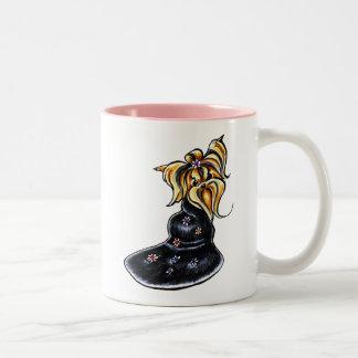 Yorkshire Terrier Pretty Performer Two-Tone Coffee Mug